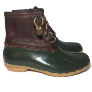 SPERRY 5 35 Leather Duck Weather Water Lace Boots